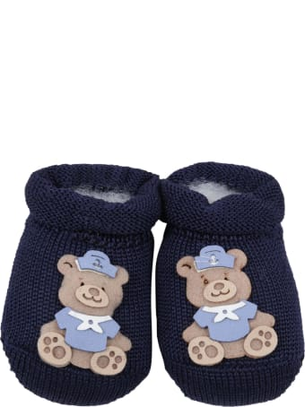 Story loris Blue Slippers For Baby Boy
