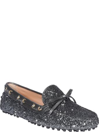 Car Shoe Glitter Loafers