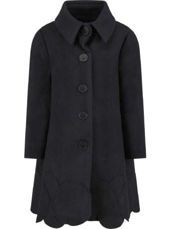 Owa Yurika Black ''sakura'' Girl Coat Con Patch