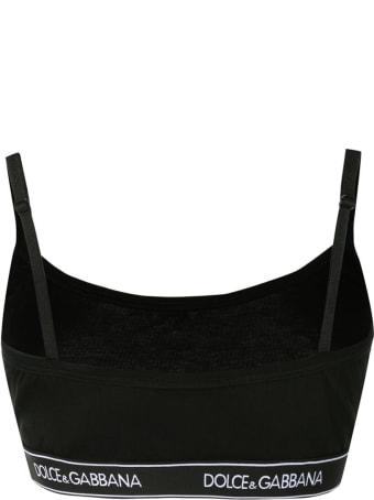 Dolce & Gabbana Underwear Jersey Stretch Logo Top