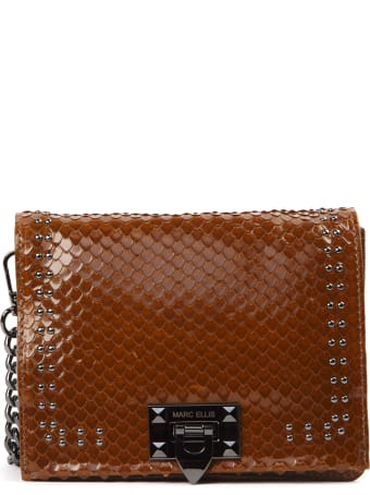 Marc Ellis Mini Brown Scaled Leather Bag