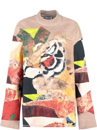 Kenzo Printed Crew-neck Sweatshirt