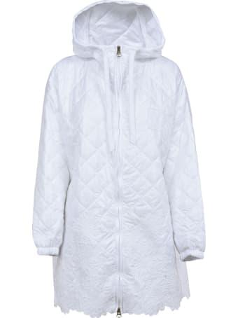 Ermanno Scervino Quilted Hooded Zip Raincoat
