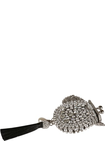 Ermanno Scervino Crystal Embellished Tassel Necklace