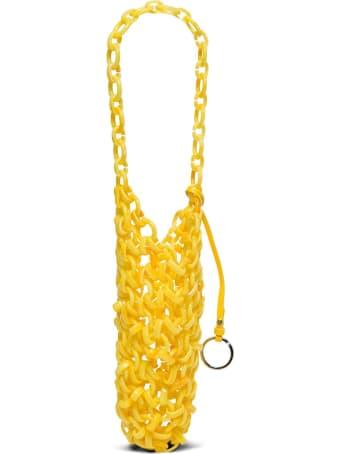 Jil Sander Link Bag In Resin Ring&calf