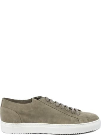 Doucal's Sneaker In Beige Suede