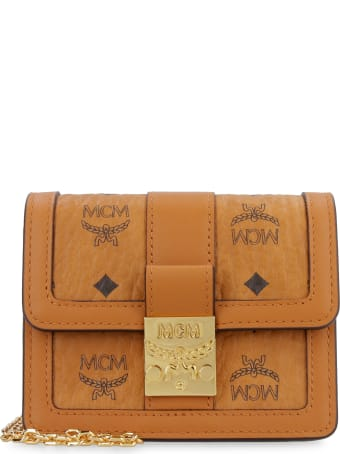 MCM Mini Tracy Visetos Crossbody Bag