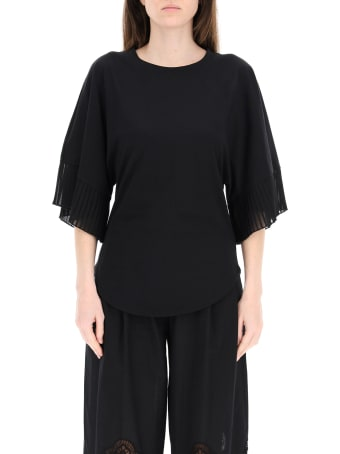 See by Chloé Top With Pleated Sleeves