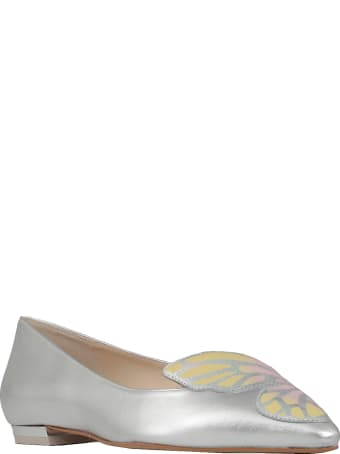 Sophia Webster Silver  Butterfly Ballet Shoes