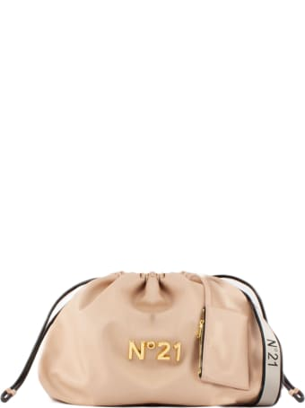 N.21 Large Pink Eco-leather Shoulder Bag