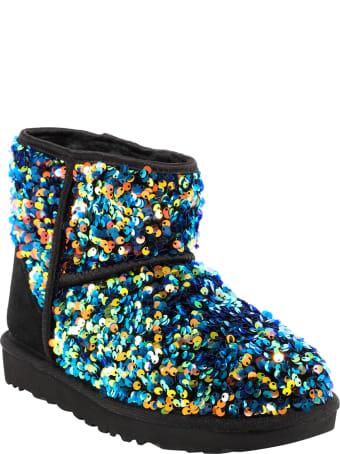 UGG Short Sequin-embellished Boots