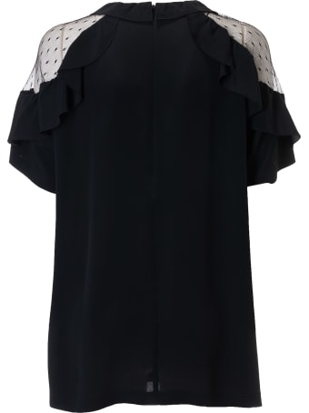 RED Valentino See-through Shoulder Top