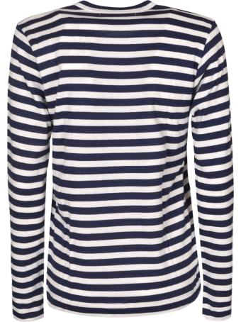 Comme des Garçons Play Stripe Print Long-sleeved T-shirt