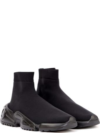Salvatore Ferragamo Black Slip On Technical Fabric Sneaker