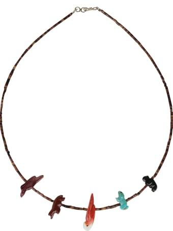 Jessie Western Short Single Strand Honey Necklace