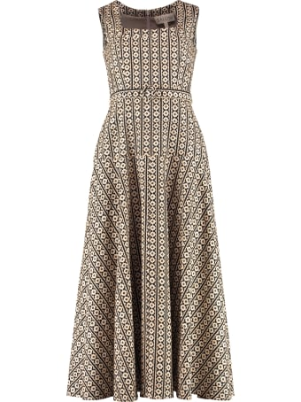 Saloni Midi Dress With Belt