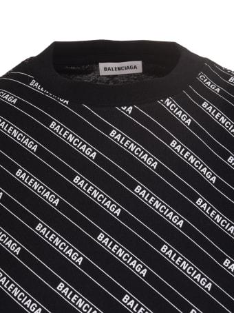 Balenciaga Allover Logo Print Balenciaga T-shirt