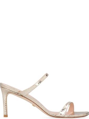 Stuart Weitzman Aleena Metallic Leather Sandals