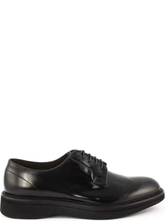 Green George Lace-up In Black Bull Leather