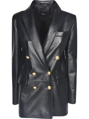 Tagliatore Leather Blazer