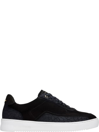 Filling Pieces Mondo Ripple Sneakers In Black Leather