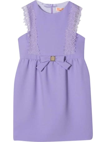 Elisabetta Franchi La Mia Bambina Purple Dress