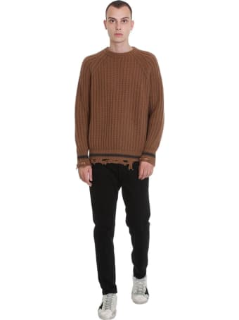 Golden Goose Kunio Knitwear In Brown Wool