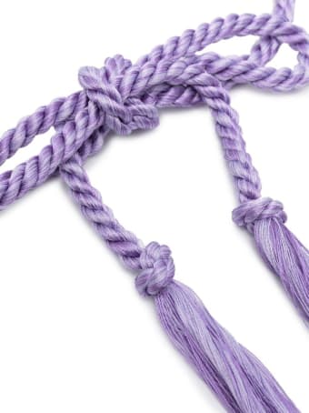 Forte_Forte Braided Lilac Belt