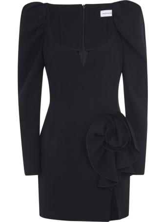 Magda Butrym Floral Applique Short Dress