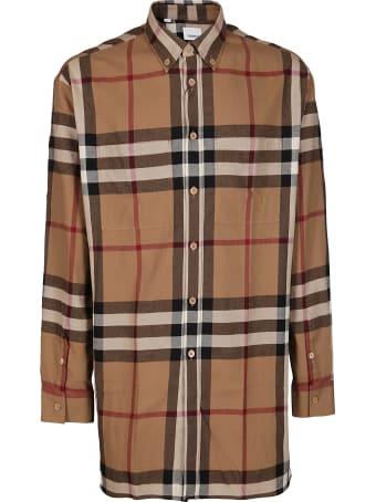 Burberry Brown Cotton Shirt