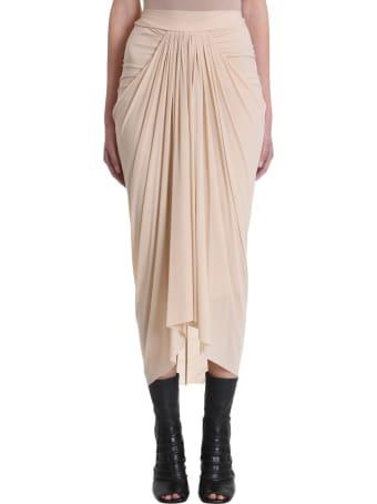 Rick Owens Lilies Nude Draped Skirt