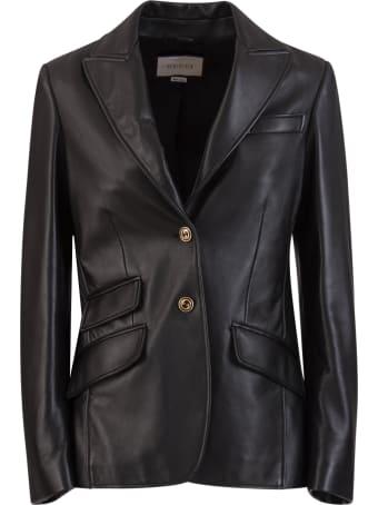 Gucci Plongé Leather Jacket