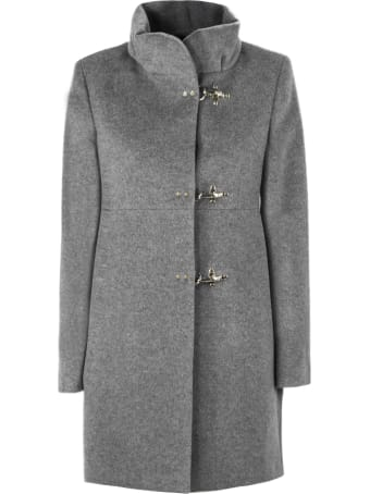 Fay Grey Virgin Wool Coat