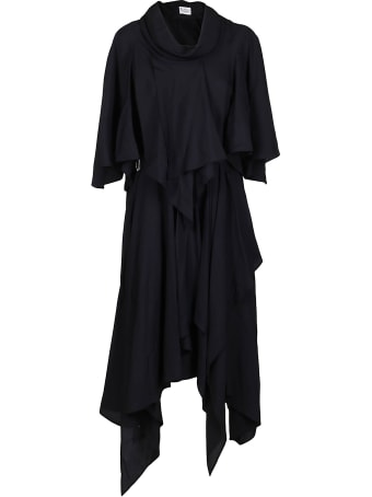 J.W. Anderson Navy Blue Cupro Dress