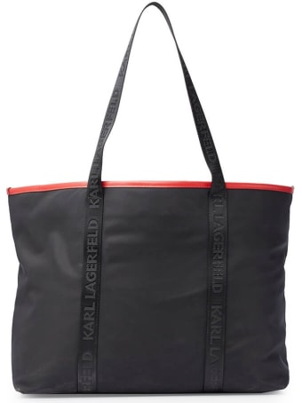 Karl Lagerfeld K/pixel Black Nylon Shopping Bag
