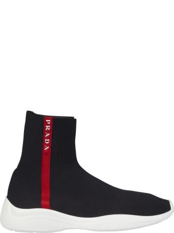 Prada Linea Rossa Sock Hi-top Sneakers