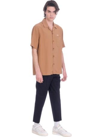 Ami Alexandre Mattiussi Shirt In Brown Viscose