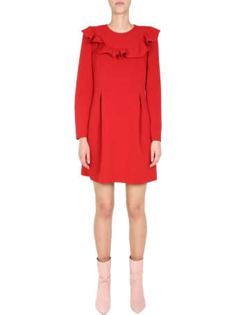 RED Valentino Dress With Ruche