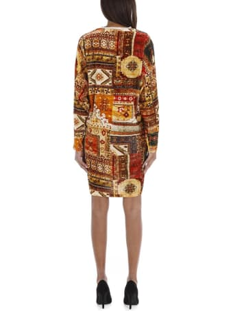 Mes Demoiselles Abstract Pattern Print Silk Dress