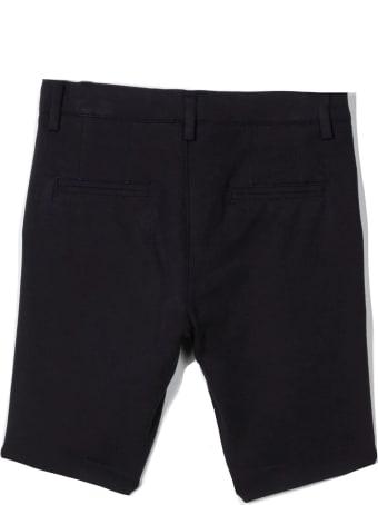 Paolo Pecora Navy Cotton Blend Shorts