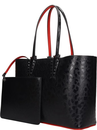 Christian Louboutin Cabata Small Tote In Black Leather