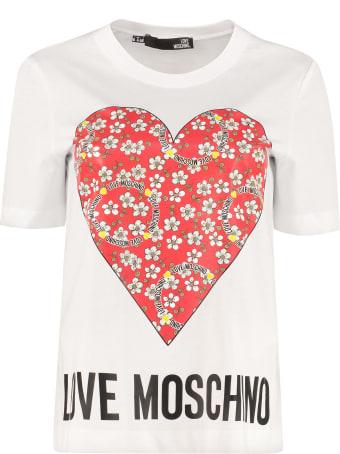 Love Moschino Printed Cotton T-shirt