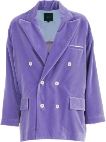 Jejia Jacket Over Double Breasted Velvet