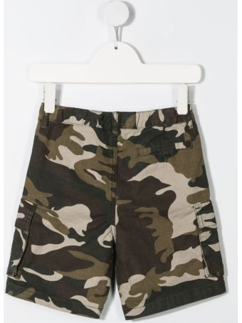Il Gufo Cargo Bermuda Shorts In Camouflage Jersey