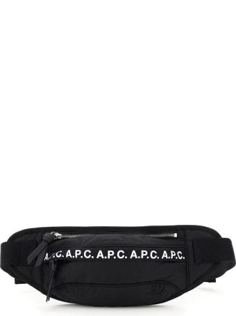 A.P.C. Banane Repeat Nylon Beltpack Logo