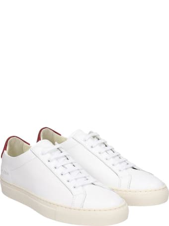 Common Projects Retro Low Sneakers In White Leather