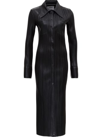 Nanushka Pleated Leatheret Dress