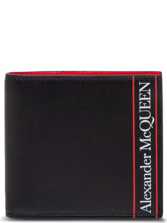 Alexander McQueen Bifold Leather Wallet With Logo