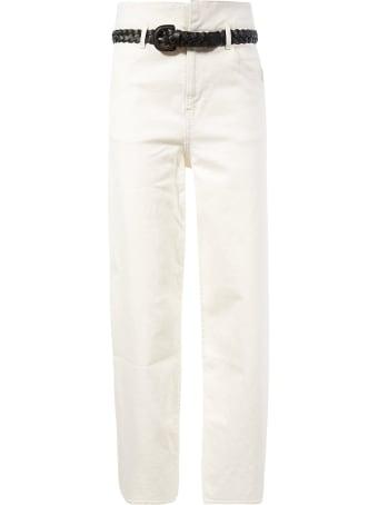 Les Coyotes De Paris Belted Straight Jeans