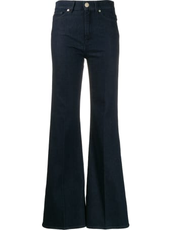 7 For All Mankind Flare Lurex Jeans